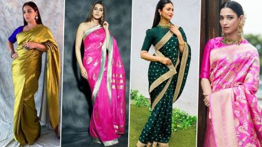 Thai Pongal 2020 Fashion: Let Vidya Balan, Kriti Sanon, Tamannaah, Divyanka Tripathi Inspire You to Go For These Gorgeous Saree Looks for the Festival