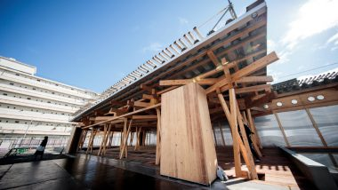Tokyo 2020 Unveils Olympic 'Village Plaza' Made from Donated Wood