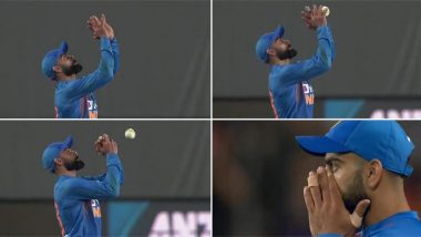 Virat Kohli Drops Easy Catch of Ross Taylor, Twitterati Hit Out at Indian Skipper's Rare Mediocre Fielding Effort