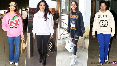 Winter Fashion: Sweatshirt Glam by Ananya Panday, Varun Dhawan, Kiara Advani and Malaika Arora Are a Steal!