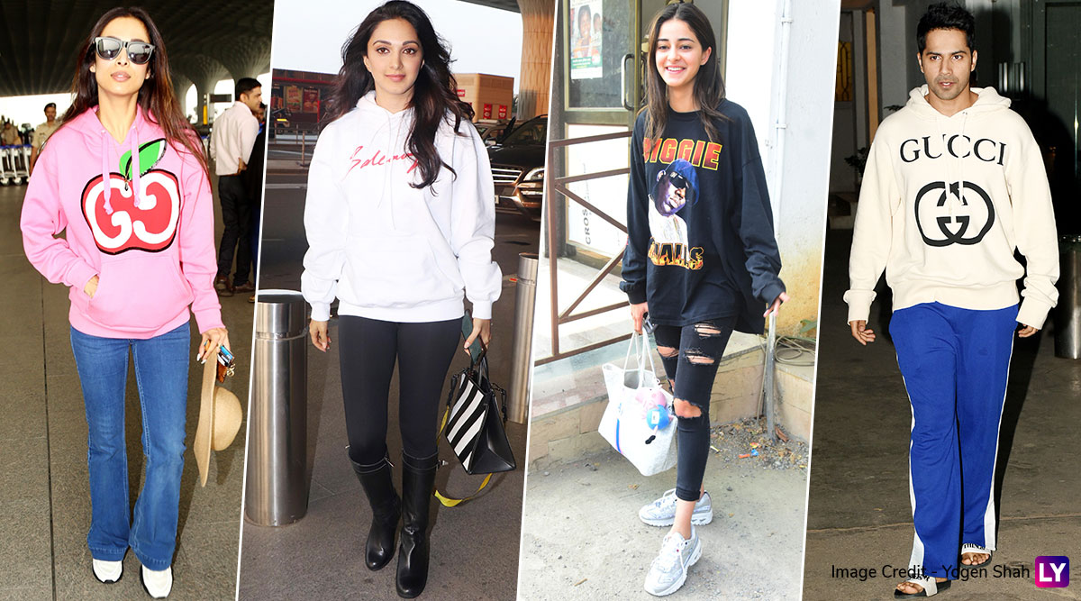 Winter Fashion: Sweatshirt Glam by Ananya Panday, Varun Dhawan, Kiara Advani and Malaika Arora Are a Steal!