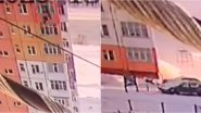 Woman Falls From 90ft Russian Building Into Heap of Snow And Walks Away (Watch Video)