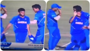 Aakash Singh Flaunts Dance Moves After India Beats Australia to Qualify for ICC U19 Cricket World Cup 2020 (Watch Video)