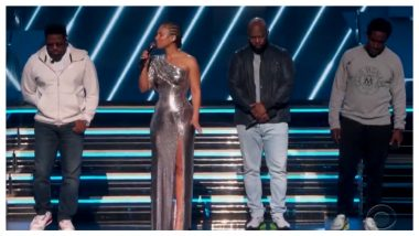 Grammys 2020: Host Alicia Keys and Boyz II Men Pay Tribute to Late Kobe Bryant With a Rendition of It's So Hard to Say Goodbye to Yesterday