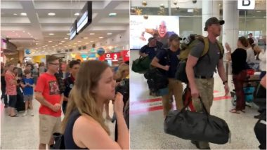 Australia Bushfires: American Firefighters Receive Rousing Welcome at Sydney Airport, Video of Crowd Applauding Goes Viral