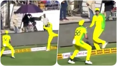 Ashton Agar, Mitchell Starc Involve in a Relay Catch to Dismiss Virat Kohli During India vs Australia 2nd ODI 2020 (Watch Video)