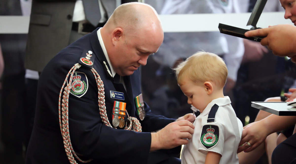 Australia Bushfire: Toddler Receives Bravery Award in Honour of His Firefighter Dad Who Died in Wildfires (View Pics)