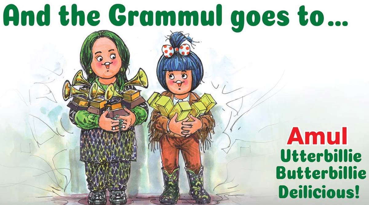 Amul Features Billie Eilish in Topical Ad, Congratulates Youngest Singer Ever to Win 5 Awards at Grammys!