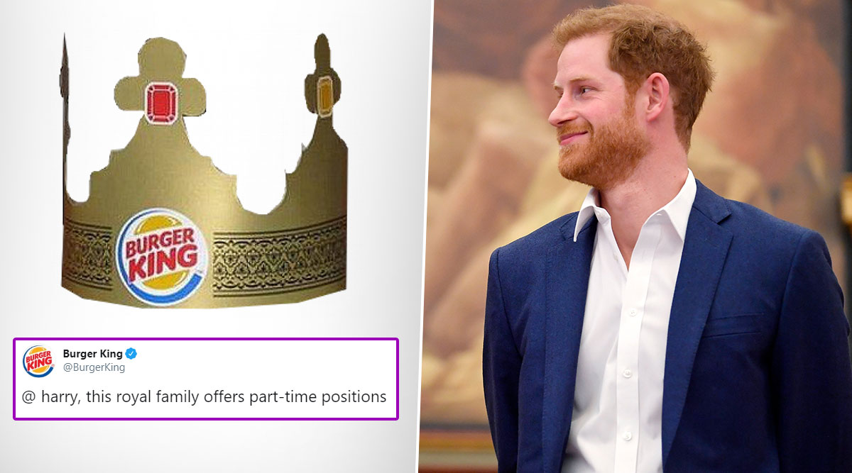 Prince Harry Gets a Part-Time Job Offer From Burger King; Twitterati Reacts With Funny Memes and Jokes
