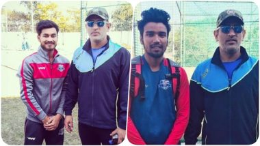 MS Dhoni Poses With Fans at the JSCA, Starts Practice After Being Dropped from BCCI's Central Contract (See Pics & Video)