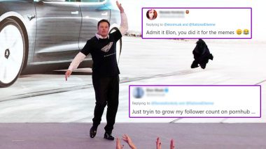 Elon Musk and His Pornhub Goals, Jokes About Dancing Seductively at Tesla's Shanghai Event to Increase Followers on XXX Website (Watch Viral Video)