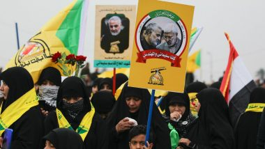 Iraqis Chanting 'Death to America' Join Baghdad Funeral Procession for Iranian Commanders Qasem Soleimani