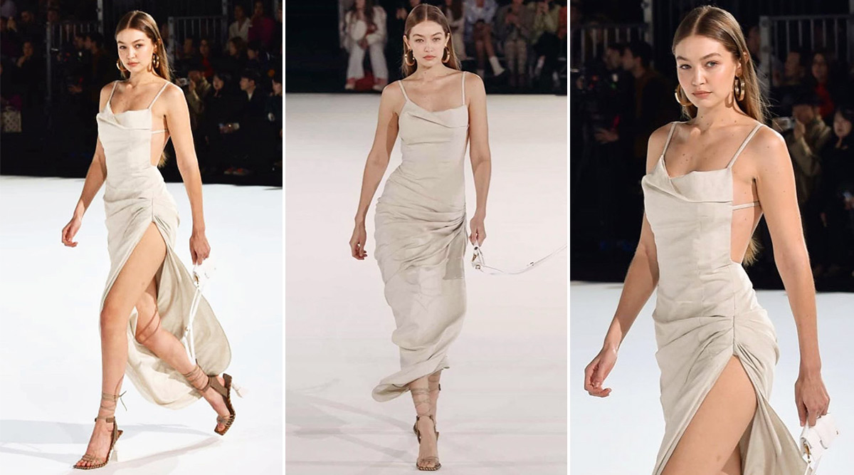 Gigi Hadid Sets the Ramp on Fire With Her Sexy Catwalk for Jacquemus Menswear Fall/Winter 2020–2021 Paris Fashion Week Show (View Pics and Video)