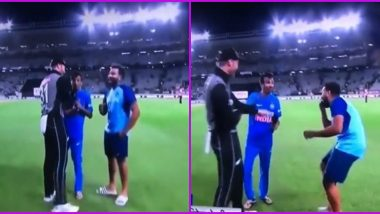 Martin Guptill Calls Yuzvendra Chahal 'Ga**u' On Air Following India vs New Zealand 2nd T20I 2020 in Auckland, Watch Viral Video