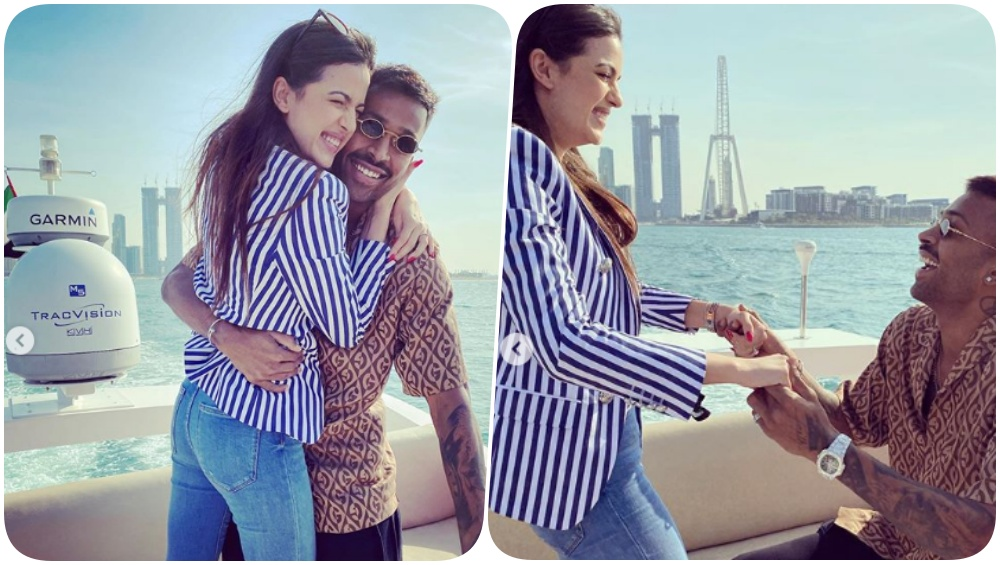 Hardik Pandya Gets Engaged to Natasa Stankovic as Indian All-Rounder Goes Down on One Knee to Propose To His Girlfriend (See Pics and Video)