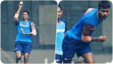 Hardik Pandya Sweats it Out With Indian Team at Wankhede Stadium Ahead of India vs Australia 1st ODI 2020, Teases his Return