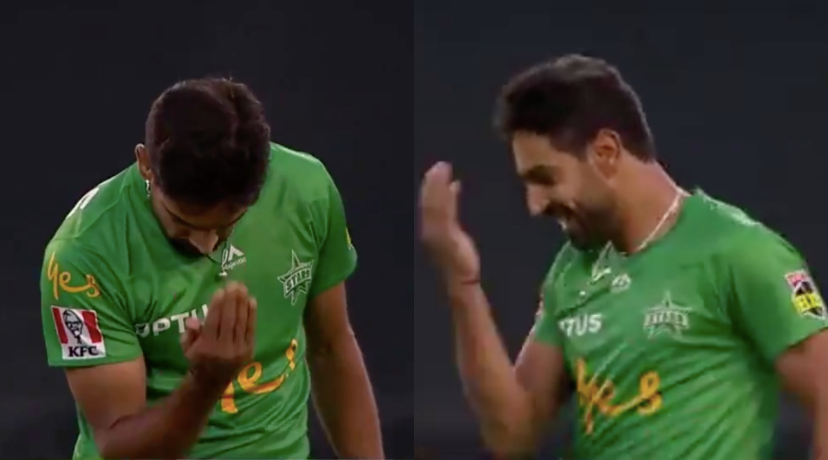 Hat-Trick Hero Haris Rauf Comes Up With 'Adaab Celebration' in BBL 2019-20, Watch Video