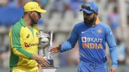 AUS 82/2 in 15.1 Overs (Target 341) | India vs Australia Live Score 2nd ODI 2020: Ravindra Jadeja Ends Aaron Finch's Stay