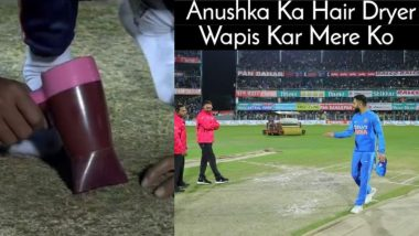 Vacuum Cleaner, Hair Dryer and Iron Used to Dry Pitch in Guwahati; Fans Share Funny Jokes and Memes As India vs Sri Lanka 1st T20I 2020 Is Abandoned