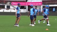 Indian Cricket Team Takes Part in New Catching Drill Ahead of 3rd T20I vs New Zealand, Watch Video