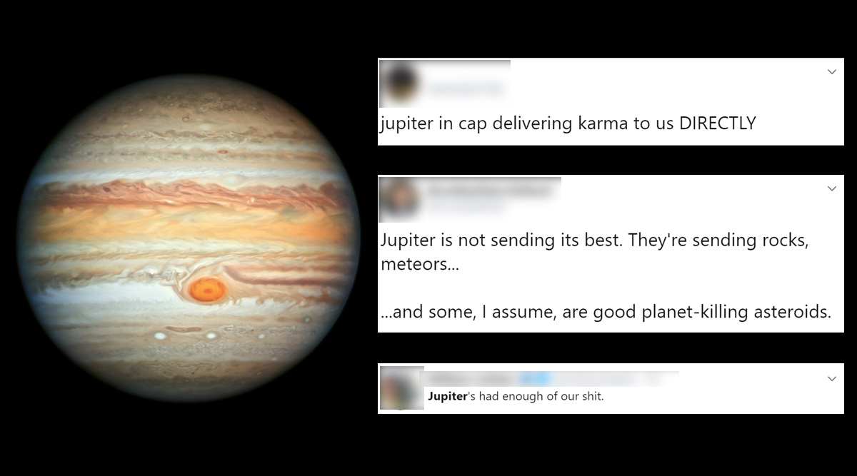 Jupiter Is Allegedly Hurling Asteroids at Earth, Say Researchers; Twitterati Ask Largest Planet to Back Off With Funny Memes and Jokes