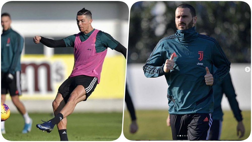 Team Juventus Sweats it Out Ahead of the Game Against Roma in Serie A 2019-20 (See Pics and Video)