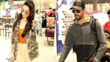 Rumoured Couple Sidharth Malhotra And Kiara Advani Return To Mumbai Together After The New Year Holidays (Watch Video)