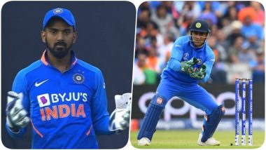 Fans Chant 'Dhoni Dhoni' After KL Rahul Makes a Wicket-Keeping Error During IND vs AUS 1st ODI 2020 (Watch Video)