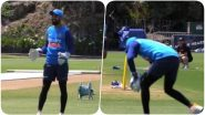 KL Rahul Spotted Doing Wicket-Keeping Practice Extensively as Virat Kohli and Co Sweat it Out in the Nets Ahead of India vs New Zealand 1st T20I 2020 (Watch Video & Pics)