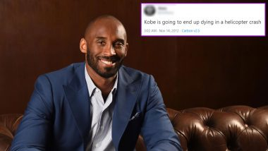 Kobe Bryant Death in Helicopter Crash Was Predicted 8 Years Ago! Fan's 2012 Tweet Foreseeing the Basketball Player's Untimely Death Goes Viral