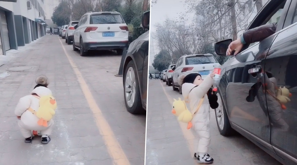Toddler Shames Litterbug Who Threw Plastic Bottle Onto Pavement by Returning It to Him Through His Car Window (Watch Video)