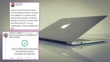 Twitter User Buys Stranger MacBook Air After Finding Out She Wrote School Essays on Her Phone! Netizens Get Emotional