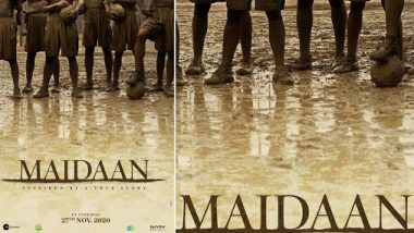 Maidaan New Poster Out! It Will Get Really Muddy In This Ajay Devgn-Priyamani Biopic (View Pic)