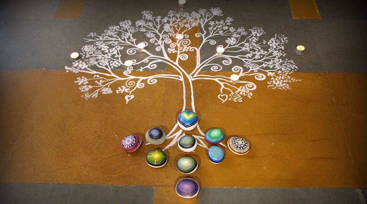 Simple Rangoli Designs for Makar Sankranti 2020: Quick and Beautiful Rangoli Patterns to Celebrate the Harvest Festival (Watch Videos)