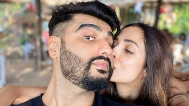 Malaika Arora Wishes Happiness In 2020 With A Kiss On Arjun Kapoor's Cheek (View Pic)
