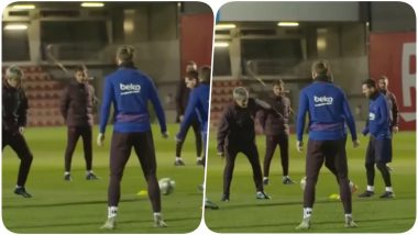 At 61, Quique Setien Barcelona New Coach Gives a Tough Time to Lionel Messi During Practice (Watch Video)