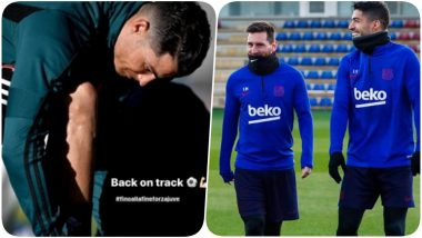 Lionel Messi and Cristiano Ronaldo Get Back to Work After Partying Hard During New Year's Celebrations (See Pics)