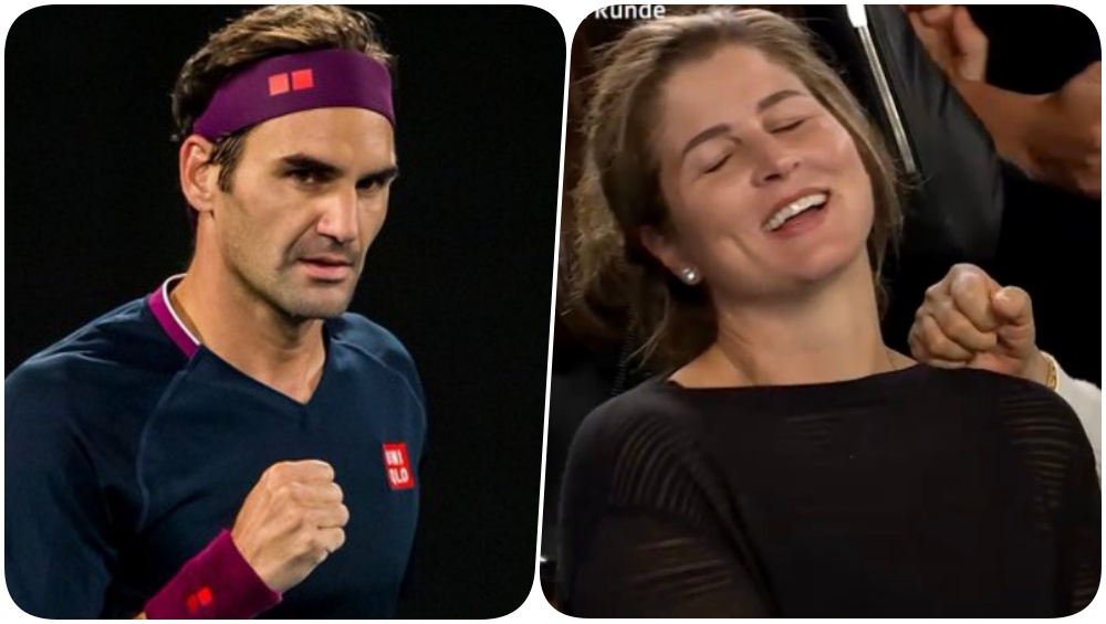 'Roger Federer's Wife Mirika is Like All of Us', Say Fans After The Swiss Ace Seals 5-Set Thriller To Win His 100th Australian Open Match (Watch Video)