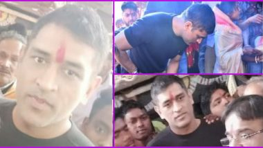 MS Dhoni Prays At Ranchi Temple Amid IPL 2020 Preparations, CSK Captain Surrounded by Fans