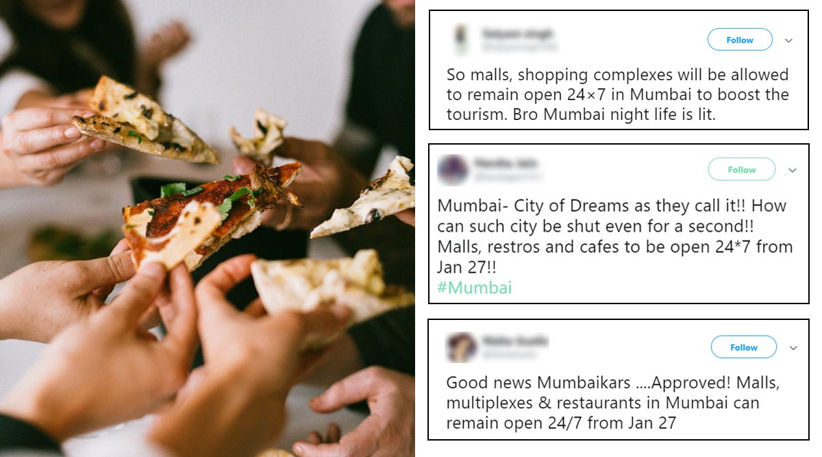 Mumbai Eateries and Malls to Remain Open 24/7 From January 27, Netizens Celebrate the Decision (Check Tweets)