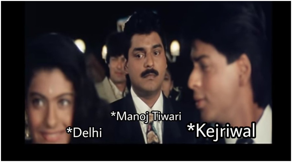 Delhi Assembly Elections 2020 Campaign Goes Bollywood! AAP, BJP, Congress Troll Each other With Shah Rukh Khan-Kajol Baazigar Meme