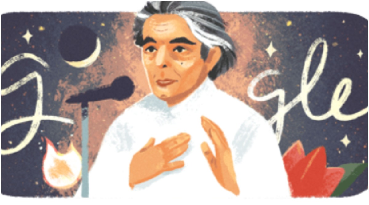 Google Doodle Pays Tribute To Late Lyricist Kaifi Azmi On His 101st Birth Anniversary (See Pic)