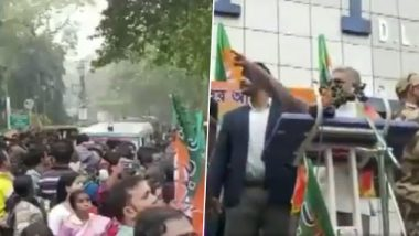 Dilip Ghosh Stops Ambulance And Orders Its Driver to Divert Route During Nadia Rally, Says 'TMC is Doing It Purposely to Disrupt Rally', Watch Video