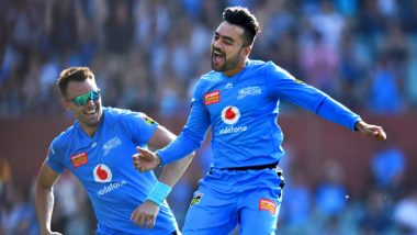 Rashid Khan Hat-Trick Video: Afghanistan Spinner Takes Three Wickets in Three Balls for Adelaide Strikers vs Sydney Sixers in BBL 2019-20