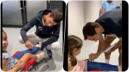Roger Federer, Novak Djokovic Win Hearts With a Super Cute Gesture Towards Young Fan (Watch Video)