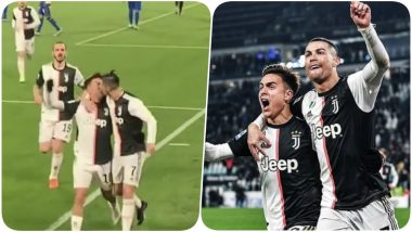 Cristiano Ronaldo's Accidental Lip Kiss With Paulo Dybala After his Second Goal Against Parma Sends Netizens in a Tizzy (Watch Video)