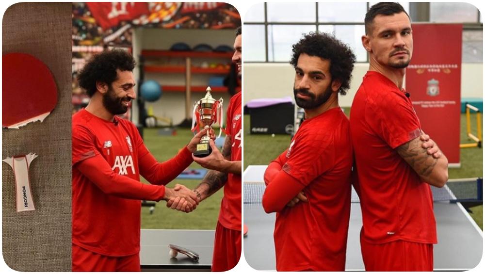 Dejan Lovren Trolls Mohamed Salah After Outplaying him at Table Tennis (Read Post)