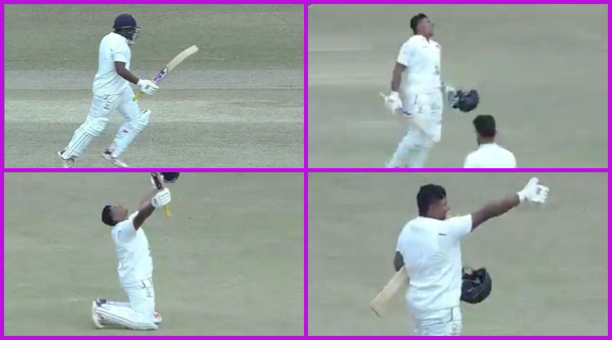 Watch Sarfaraz Khan's Pumped-up Celebration Video, 22-YO Scores Double Century During Himachal Pradesh vs Mumbai Ranji Trophy 2019-20 Match