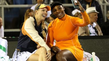 Serena Williams Breaks Down In Tears During a Press Conference Following Caroline Wozniacki's Retirement From Professional Tennis (Watch Video)