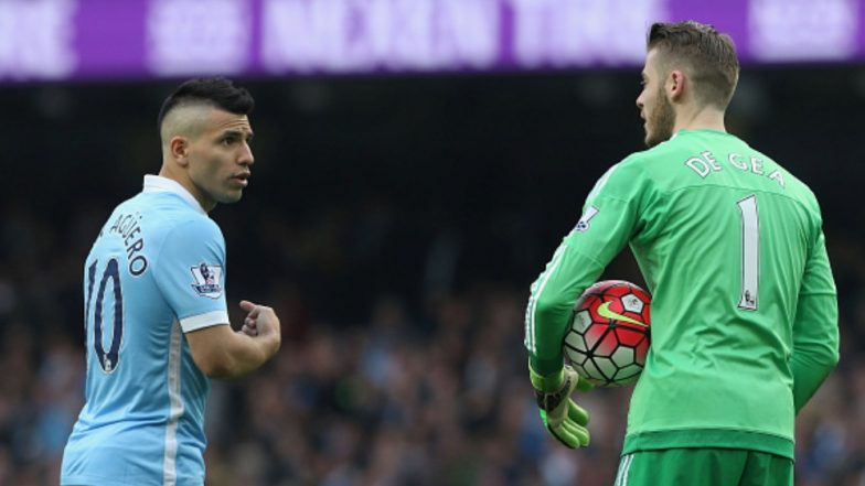 David De Gea Jokingly Shows a Middle Finger to Sergio Aguero During Manchester City vs Manchester United, Carabao Cup 2019-20 (See Pic)